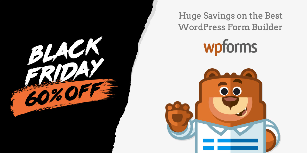 WP Forms Black Friday banner