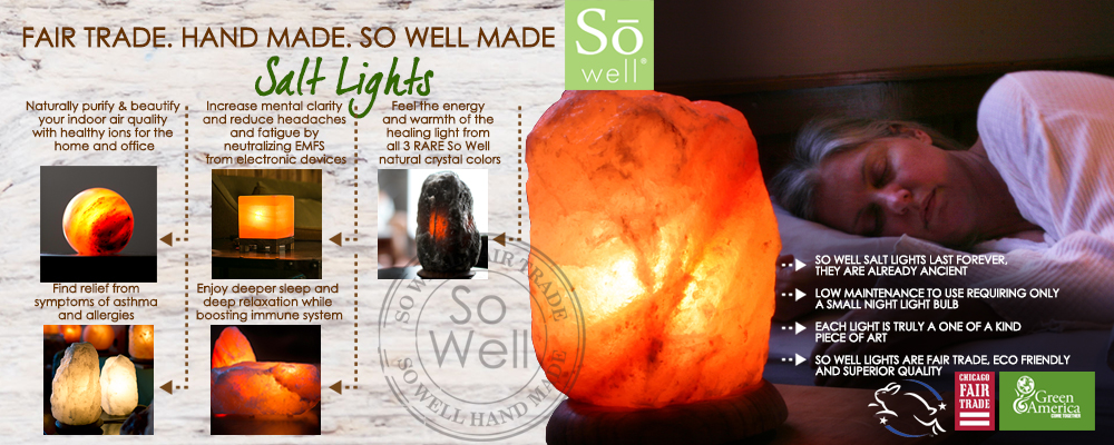 So Well Himalayan salt lights