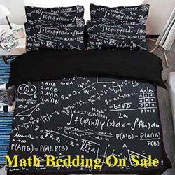 Math Bedding, Cool Bedding, Cheap 3D Bedding Sets