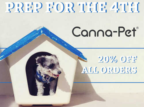 We are celebrating the 4th of July with a two day sale!  Save 20% OFF ALL ORDERS.  Sale runs June 13-15 ONLY at CannaPet.com