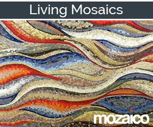 Mosaic Wave Pattern Wall Art
