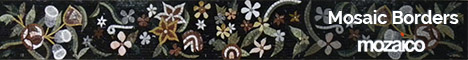 Floral Mosaic Border Handmade Floral Design