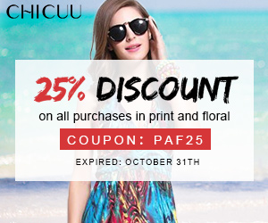 25% discount on all purchases in print and floral (code:PAF25),Expired: October 31th