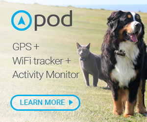 Pod Trackers GPS + WiFi Tracker for Dogs and Cats