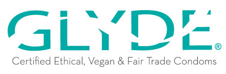 Glyde certified ethical, vegan and fair trade condoms.