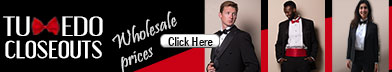 Wholesale tuxedos at www.tuxedocloseouts.com