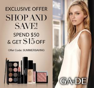 Gade Cosmetics limited offer - Shop and Save!