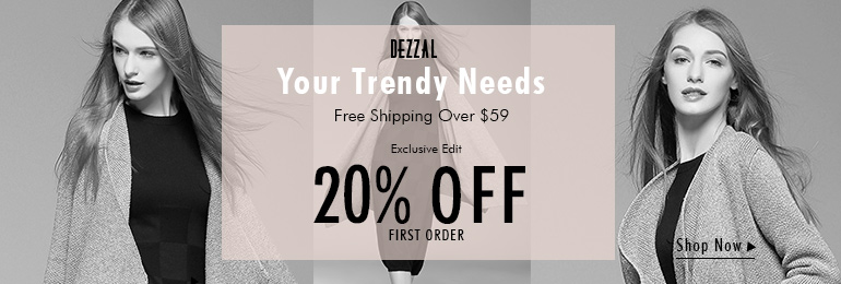 Free shipping over $59 at dezzal.com for cardigan! Shop now!