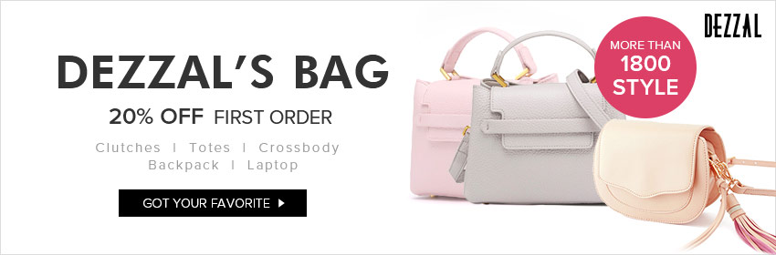 "A new bag solves all problems! Just hit into Dezzal to choose yours from our 1800+ styels of bags and you can enjoy free shipping on orders $59+ and 20% off for your first order with coupon ""DZFIRST20"". Just buying!"