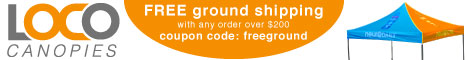 free shipping offer from lococanopies.com