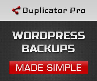 Duplicator Pro: WordPress Backups made simple