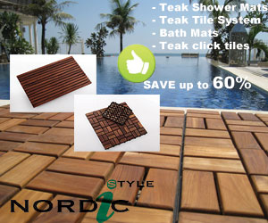 Teak Shower mat, bath mat, teak tile