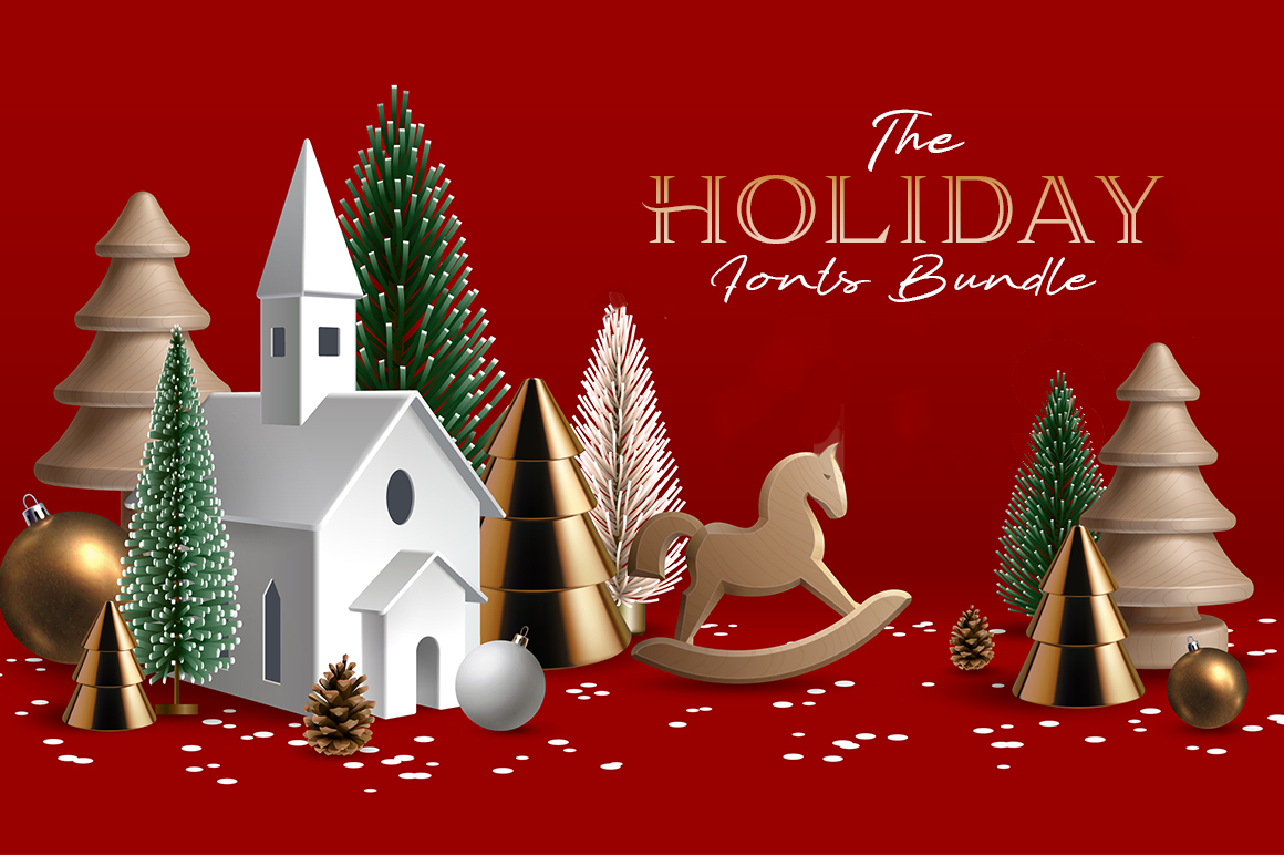 The Holiday Fonts Bundle