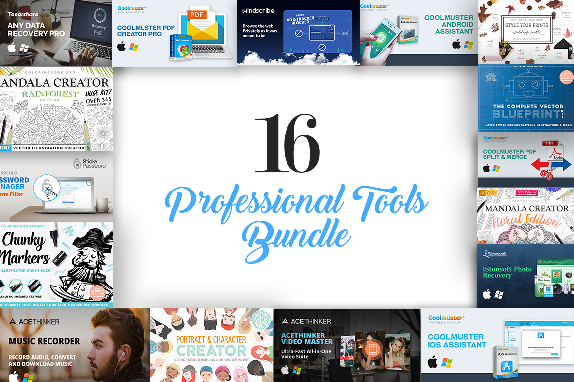Professional Tools Bundle: 16 Essential Designer Apps & Resources