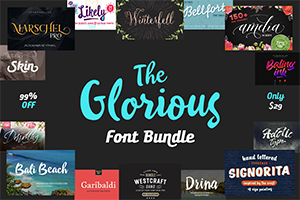 The Glorious Font Bundle: 25 High-Quality Fonts