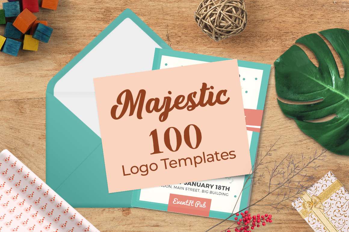 100 Majestic Vector Logo Templates Bundle banner