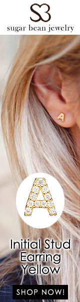 Sugar Bean Jewelry - Initial Stud Earring