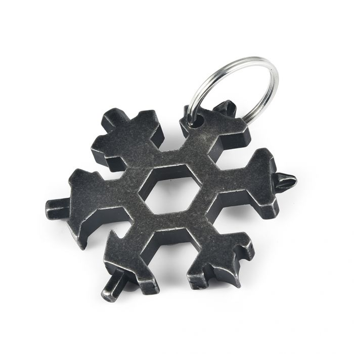 19 in 1 EDC Stainless Steel Snowflake Multi-tool Outdoor Keychain Screwdriver Bottle Opener Was: $9.99 Now: $5.99 and Free Shipping.