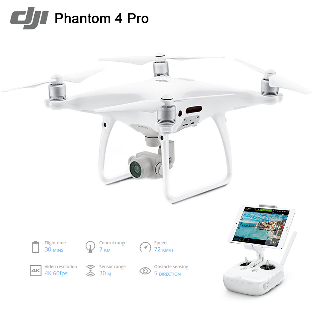 Extra 26% OFF $1,426.72 Coupon Code  for DJI Phantom 4 Pro Intelligent Drone RC Quadcopter