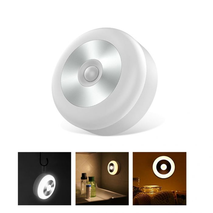 Cordless Battery Powered Smart Motion Sensor Night Light Was: $11.99 Now: $6.99 and Free Shipping.