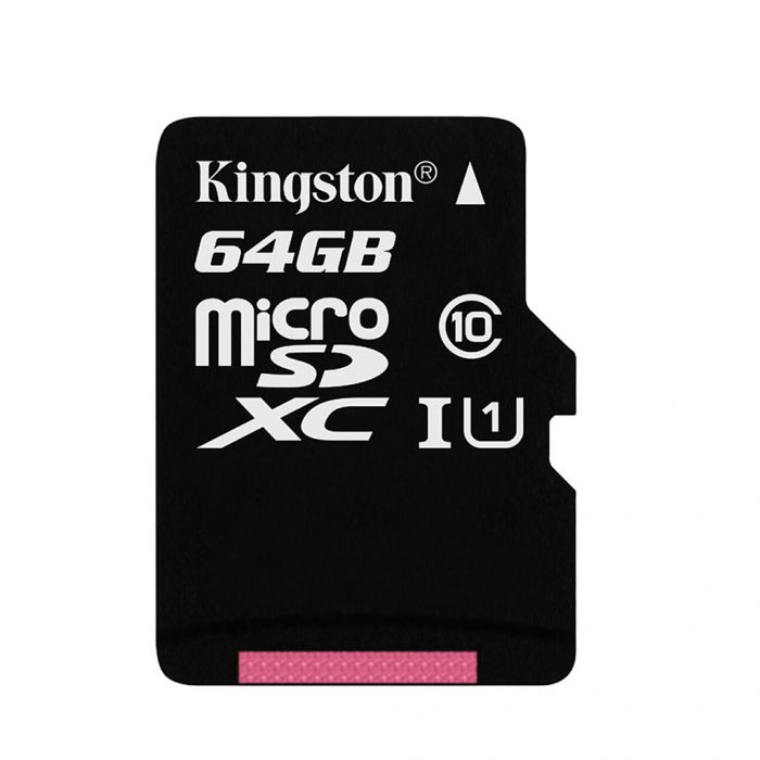Kingston Class 10 UHS-I 80MB/s Micro SDXC Memory Card 64GB for