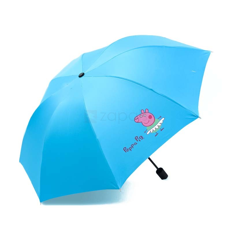 Shipped for Peppa Pig Cartoon Folding Umbrella Anti-UV Umbrella Was: $15.99 Now: $9.99 and Free Shipping.