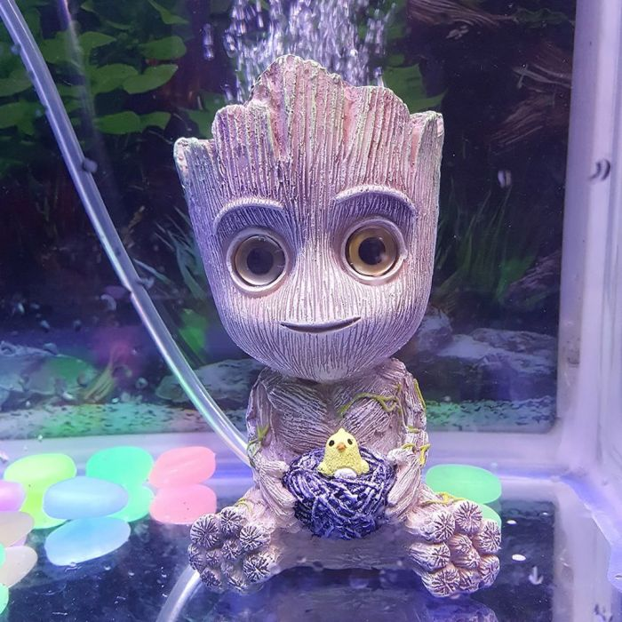 Resin Groot Aquarium Decoration Ornament with Oxygen Pump Connector Was: $12.99 Now: $4.69.