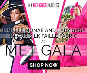 Janelle Monae and Lady Gaga in our Silk Faille Fabric at Met Gala
