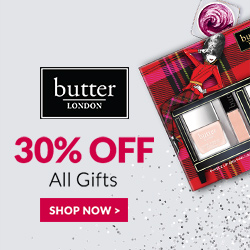 Take 30% Off Gifts, and Receive A Free Bonus Gift With $50+ Purchases, Use Promo Code BONUS50 at butter LONDON! Offer Valid 12/7-12/8 Only! Shop Now and Receive Free Shipping!
