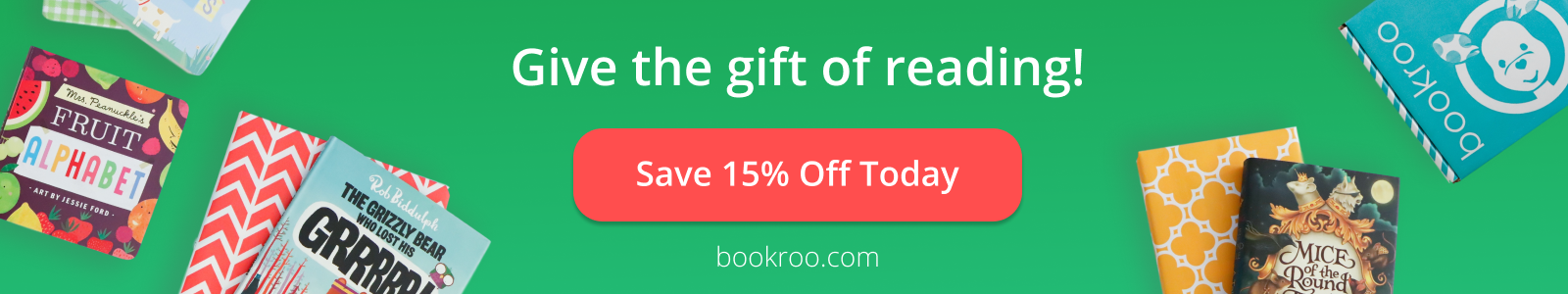 Give the gift of reading! Save 15% off today! bookroo.com