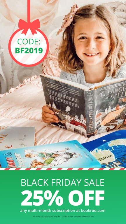 Black Friday Sale 25% off any multi-month subscription at bookroo.com