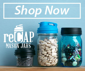 Make it yours with reCap mason jar lids.