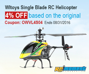 Wltoys Single Blade RC Helicopter,4% OFF based on the original discount(Coupon:OWVL4S04)