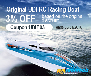 Original UDI RC Racing Boat,3% OFF based on the original discount(Coupon:UDIB03)