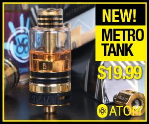 Metropolis Tank, $19.99 Retail, G-Clapton Coils 0.5ohm