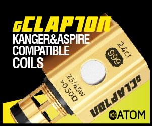 G-Clapton Coils, Amazing Flavor, Long Lasting Taste, Kanger, Aspire, Crown, Arctic Compatible.