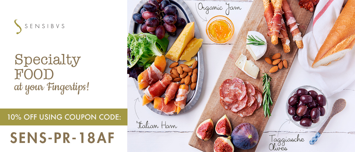 Specialty Food: 10% off using coupon code
