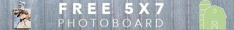 Free 5x7 Wooden PhotoBoard (reg. $40)
