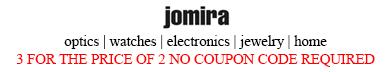 jomira discount code