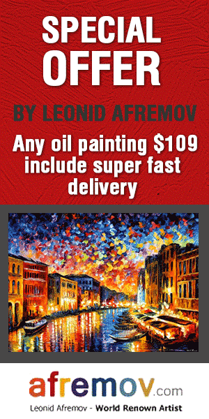 Any painting from the site for $109 with free international shipping