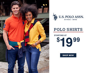 Polo Shirts Starting at $19.99