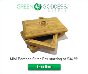 Green Goddess Supply Mini Bamboo Sifter Box