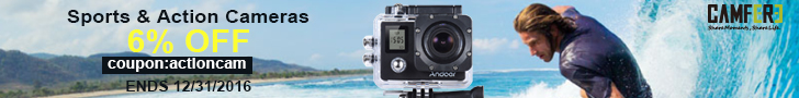 6% OFF with coupon,Sports & Action Cameras(code:actioncam),Free shipping,ends 12/31/2016