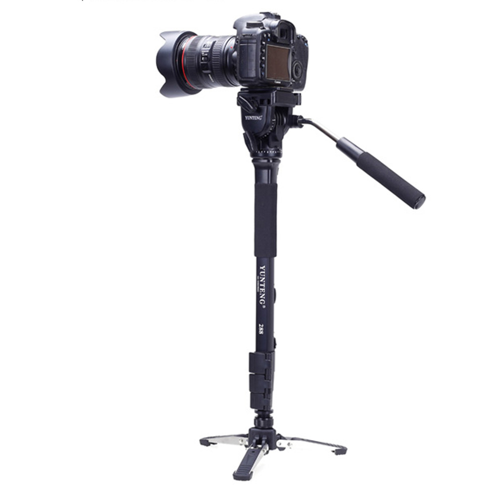 Save $1 Yunteng VCT-288 Photography Tripod Monopod & Fluid Pan Head & Unipod Holder only $26.99