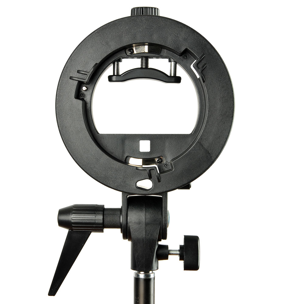 $2 discount for PRO Godox S-Type Bracket Bowens Mount Holder for Speedlite Flash Snoot Softbox only $17.99
