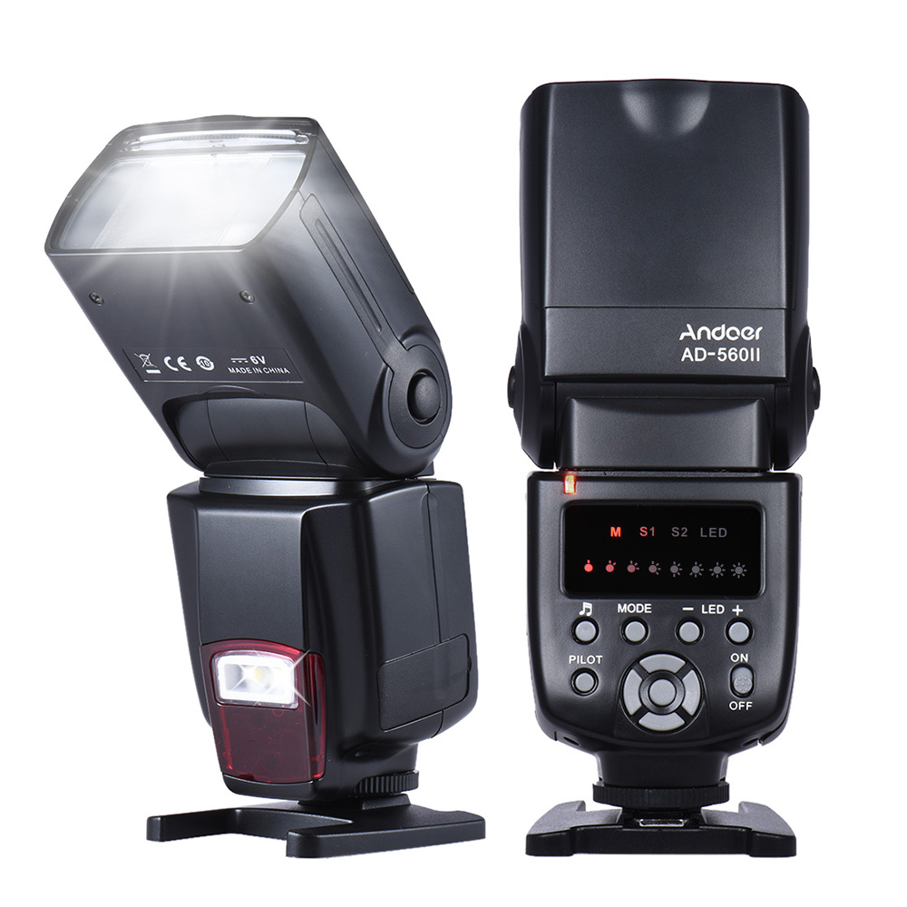 $1 discount for Andoer AD-560? Universal Flash Speedlite On-camera Flash GN50 w/ Adjustable LED Fill Light only $28.99