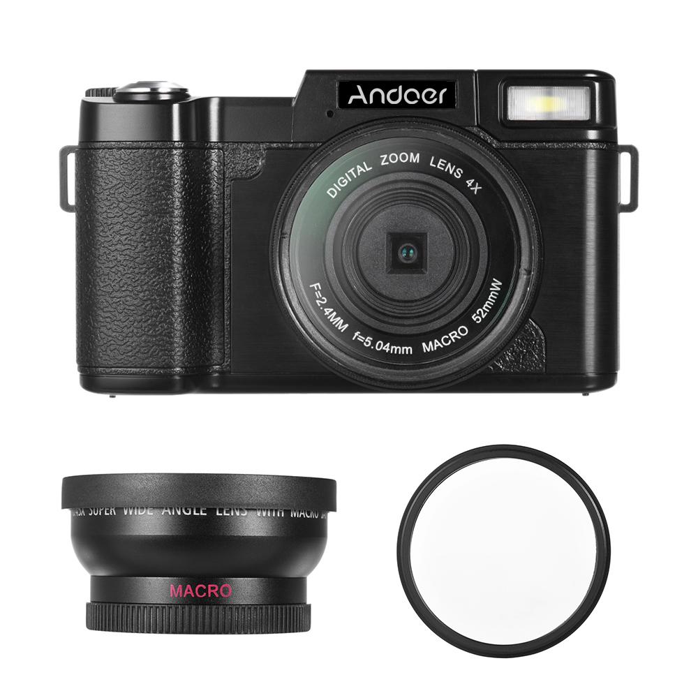 $7 discount for Andoer CDR2 1080P 15fps Full HD 24MP Digital Camera 3.0