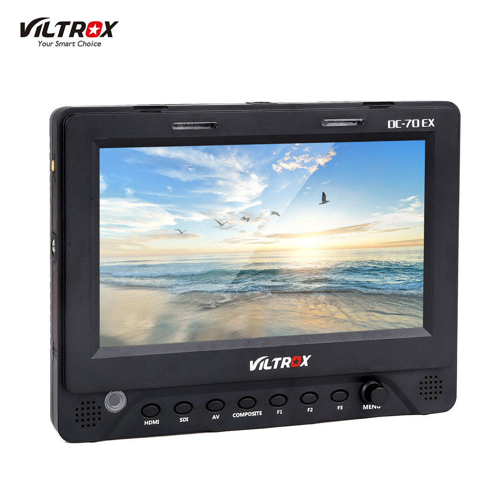Get Extra 18% Off Viltrox DC-70EX Porfessional Portable 7 Inch HD Clip-on Camera Video LCD Monitor 1024 * 600 Resolution