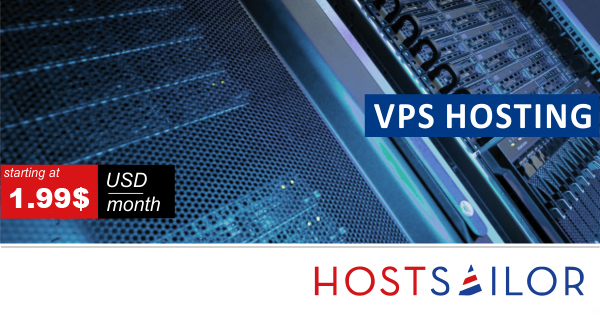 HostSailor VPS Plans Starting At 1.99$