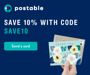 Save 10% with code SAVE10 at Postable.com